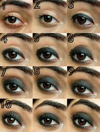 black smokey eye makeup in 10 steps copy