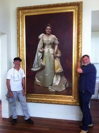 hanging large artworks john longstaff portrait hang a longstaff painting museum quality art