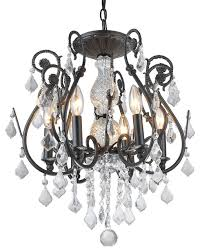 wrought iron chandelier antique black