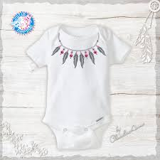 Designer Newborn Baby Gifts Baby Girl Boho Necklace Onesie Infant Designer Baby Clothes