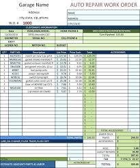 New Xcell Auto Repair Excel Auto Body Auto Repair Template Free Auto Body Repair Invoice