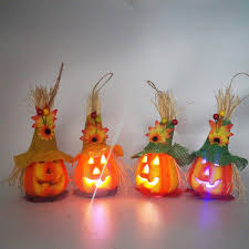 2019 <b>Halloween</b> Scarecrow Pumpkin Lantern <b>Creative LED</b> Holiday ...