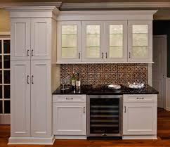 Small Kitchen Backsplash Kitchen Gorgeous Small Kitchen Decoration With Silver Black Tin