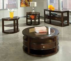 cherry blossom round coffee table sets standard furniture spencer 4 piece adorable interior design laminate lacquired