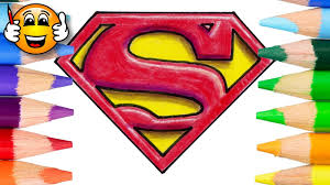 35+ superman coloring pages for printing and coloring. Coloring Pages For Kids Superman Logo In 3d Coloring Book Videos Bibabibo Youtube