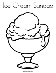 ice cream sundae coloring page. Interesting Page Ice Cream Cup Coloring Page And Sundae O