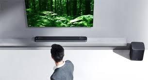 lg tv with soundbar. lg sj9 atmos soundbar lg tv with
