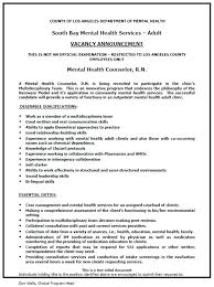 sample mental health counselor resume physical therapist resume