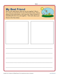 prompt for kindergarten my best friend writing prompt my best friend