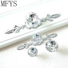 glass dresser knobs crystal dresser knobs drawer knobs handles glass dresser knob crystal silver chrome clear