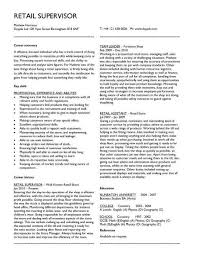 Good Resume Examples Retail Retail Supervisor Cv
