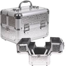 makeupcreations cosmetic train case silver flower 59 00