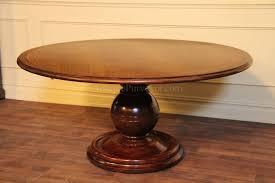 64 round casual mahogany kitchen table pedestal dining table regarding round dining table with pedestal base