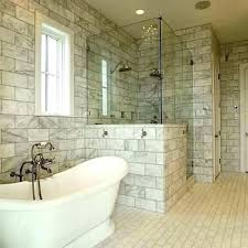 large tile shower beautiful subway marble pictures s