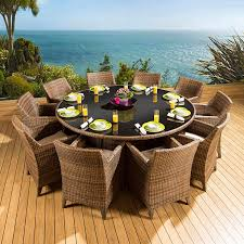 round outdoor dining sets. Incredible-Large-Round-Outdoor-Dining-Table-Also-Rattan- Round Outdoor Dining Sets