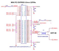 86duino one hardware introduction 86duino mini pci e interface usage example