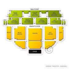 Grand Theater Wausau Wi Seating Chart Grand Theater Wausau Concert Tickets