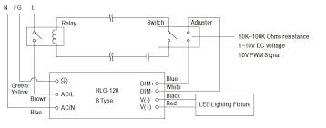 dimming the mean well hlg elg npf d and lpf d led drivers mean well led driver relay diagram