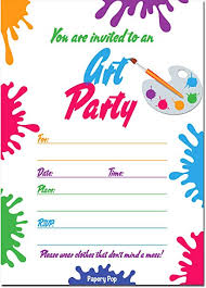 kids birthday party invitations 30 art party invitations with envelopes 30 pack kids birthday invitations for boys or girls