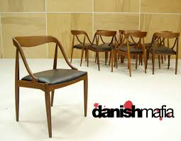 mid century danish modern set of 10 teak johannes andersen dining