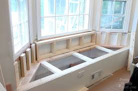 diy bay window seat. Exellent Seat Framing Out Back Bench Seat Bay Window And Diy Bay Window Seat Pretty Handy Girl