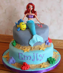 Ariel Cake Decorations Ariel 4th Birthday Cake With Flounder Party Cakes Pinterest