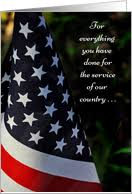 Thanks For Your Service Military Service Thank You Card From Greeting Card Universe