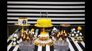 Yellow and black party themed decorating ideas - YouTube