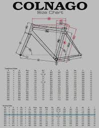 68 Eye Catching Colnago M10 Size Chart