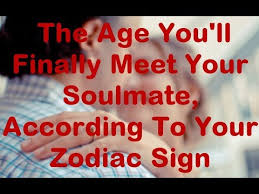 Zodiac Soulmates Chart The Age Youll Finally Meet Your Soulmate According To Your Zodiac Sign