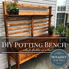 so let s say you have limited patio space you need a potting bench but you d also like to have a place to entertain