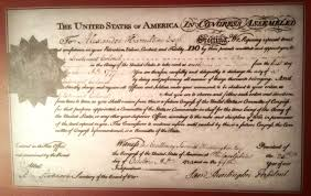 alexander hamilton alexander hamilton s lt colonel commission signed by united states continental congress president samuel huntington on 25 1780 only four month