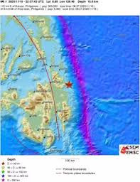 Emsc (european mediterranean seismological centre) provides real time earthquake information for seismic events with magnitude larger than 5 in the european mindanao, philippines. Earthquake Earthquake Magnitude 6 0 Mindanao Philippines 2020 November 15 22 37 44 Utc Lindol
