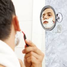 Amazon.com : No Fog Shower Mirror with Rotating, Locking Suction; Bonus  Separate Razor Holder | Adjustable Arm for Easy Positioning | Best Personal  Mirror ...