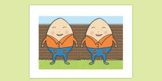 Humpty Dumpty Finger Puppets Cut Outs Nursery Rhyme Finger