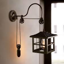 light industrial metal sconce light