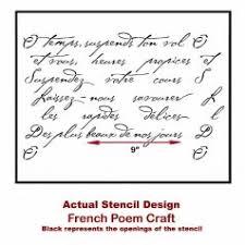 cutting edge furniture. french poem craft stencil cutting edge furniture t