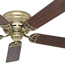 awesome hunter ceiling fans for your home decor hunter 52 inch low profile bright brass