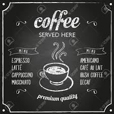 Chalk Board Menu Board Retro Coffee Typography Sign On A Chalkboard Can Be Used As