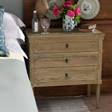 Orleans Wooden Bedside Chest Of Drawers - Wood .