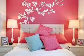 Marvelous Design Of The Bedroom Aras With Pink Wall Added With Paint On The Wall  Ideas