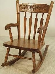 amish kids furniture rocking chair oak acorn pattern