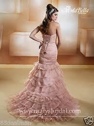 bridal gown wedding dress 3y228 dusty rose blush mermaid ruffles 2