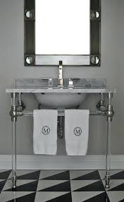 metal bathroom vanity console within legs designs 12