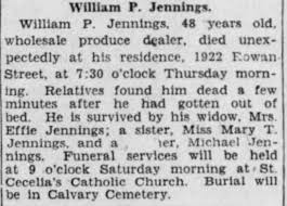 Obituary for William P. Jennings (Aged 48) - Newspapers.com