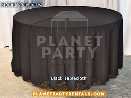 black tablecloth for 60 round table