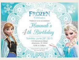 Frozen Birthday Invitations 28 Inspirational Frozen Birthday Invites Template