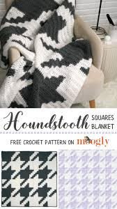 Houndstooth Knitting Pattern Chart Houndstooth Squares Blanket Moogly