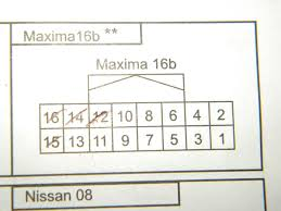 need help with steering wheel radio controls maxima forums 2004 Nissan Maxima Wiring Diagram as you can see the numbers that are marked (12,14,15,16)are the only wires in the plug and not even the colors match with the instructions sheet 2014 nissan maxima wiring diagram