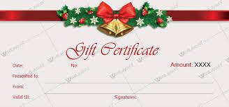Printable Christmas Certificates Christmas Present Certificate Templates Christmas Gift Certificate
